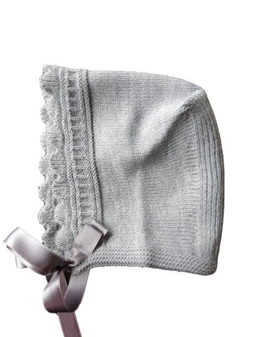 Grey Knitted Bonnet