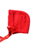 Red Dorna Baby Bonnet