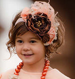 Pink Feather Rosette Headband - Classical Child  - 1