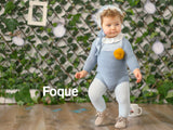 Knitted Wool Baby Romper | Foque