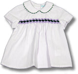 Boys Striped Shirt & Plain Shorts Set - Classical Child  - 2