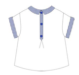 White Shirt with Check Detail - Classical Child  - 2