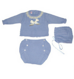 Knitwear Set with Cable Detail