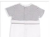 White/Navy Romper Suit - Classical Child  - 4