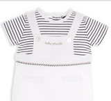 White/Navy Romper Suit - Classical Child  - 3