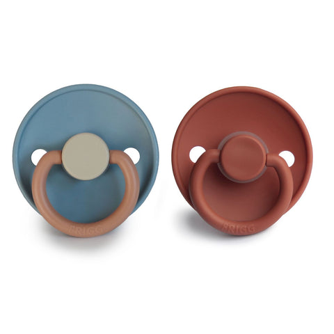 Frigg Pacifier Classic Colour Block Breeze/Baked Clay