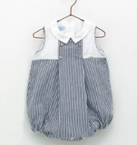 Navy Striped Romper | Foque