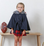 Navy Wool Cape | Foque