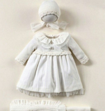 Ivory Wool Knitted Dress Set