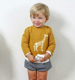 Mustard Giraffe Sweater | Foque