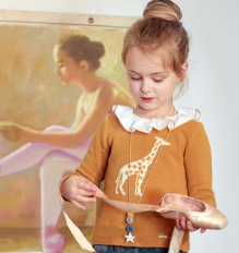 Mustard Giraffe Girls Sweater | Foque