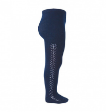 **PRE ORDER** Openwork Side Warm Tights Navy | Condor