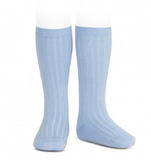 Ribbed Socks Sky Blue | Condor