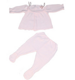 Spanish Knitwear Baby Set in White