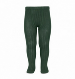 condor ribbed tights bottle green