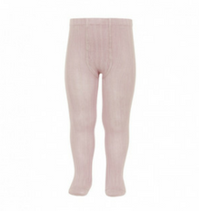 Old Rose Ribbed Tights