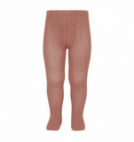 Terracotta Ribbed Tights