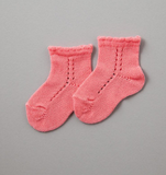 Short Lace Socks Coral
