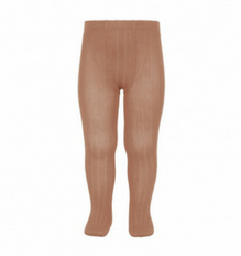 Clay Ribbed Tights