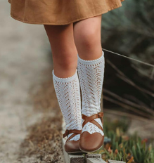 Long Lace Socks White