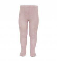 Pale Pink Ribbed Tights