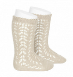 Linen Long Open Lace Socks
