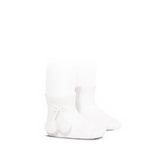 White Pom Pom Short Socks | Condor