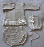 Linen Knitted Pant Set