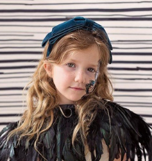 Heather Velvet in Headband | Classical Child