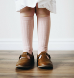 Clearance Ribbed Socks Dusky Rose