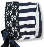 Navy Stripe Bonnet