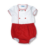 Boys Red Linen 2 Piece Outfit | Foque