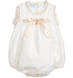 Ivory Cotton Short Babysuit | Foque