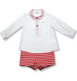 Red Striped Set