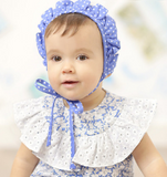 Baby Girls Blue Bonnet | Foque