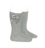 High Socks with Bow Aluminium
