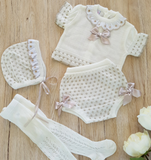 Spanish Knitwear Set with Spots