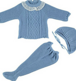 Blue Knitwear Set