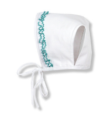 White Trimmed Bonnet | Foque