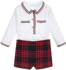 Boys Red 2 Piece Shorts Set