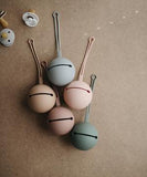 Mushie Silicone Pacifier Holder Case Dried Thyme