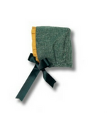 Green & Mustard Bonnet - Classical Child  - 1