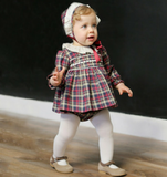 Tartan Baby Dress Set