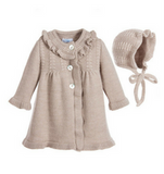Knitted Coat & Bonnet Set