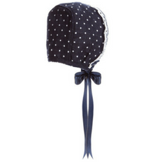 Spotted Navy Bonnet - Classical Child  - 1