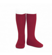 Ribbed Socks Cherry