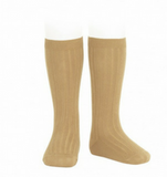 Ribbed Socks Gold