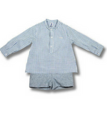 Boys Blue Checked Ensemble