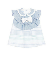 Girl Blue Dress Set - Classical Child  - 1