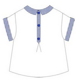 White Shirt with Check Detail - Classical Child  - 1